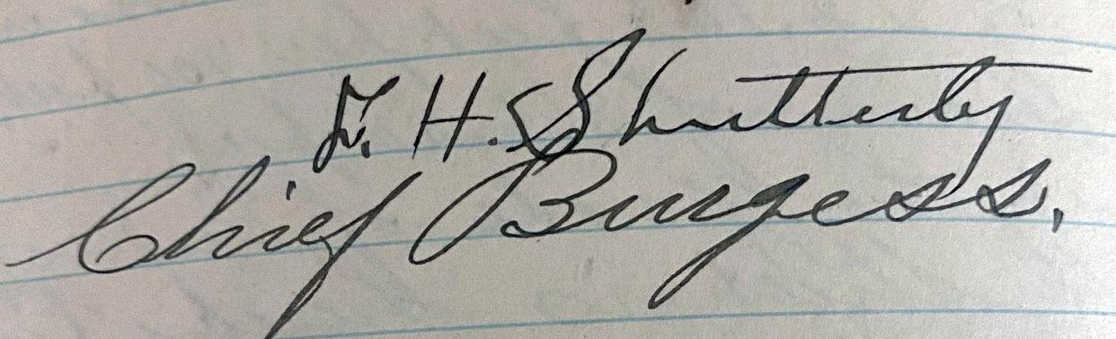 Mayor (Burgess) Shutterly, 1905-1908